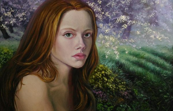 Portrait of a sad girl with red hair «Lilith»