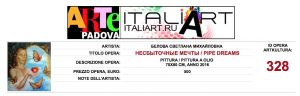 Certificate of participation in the Italian exhibition-2