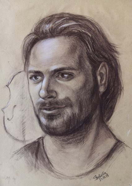 Portrait of cellist Stjepan Hauser