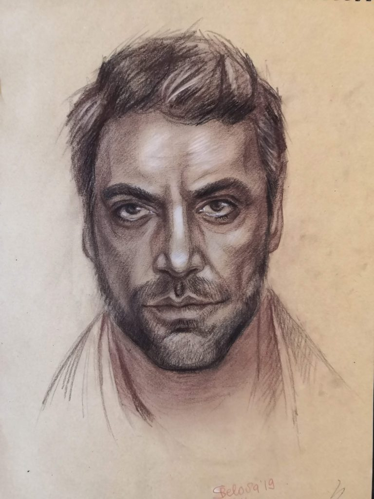 Portrait of actor Javier Bardem