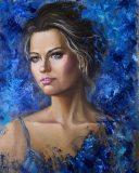 Woman portrait «Cold fairy tale»