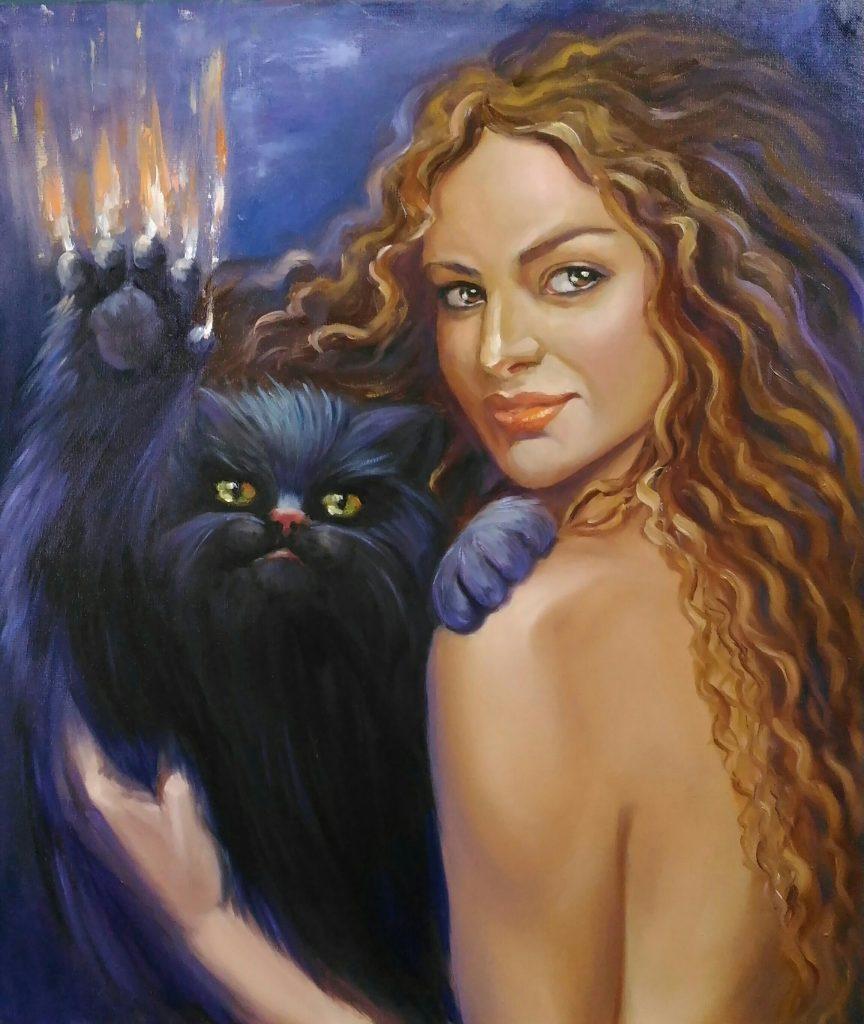 Oil surrealistic painting Margaret