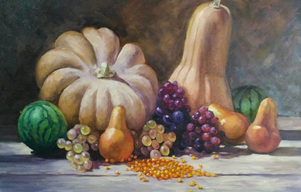 Still life with autumn vegetables and fruits «Generous Autumn»