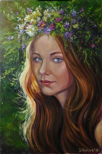 Portrait of young woman»Eva»