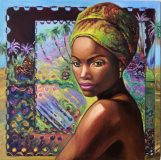 Oil painting on canvas «Gold of Africa No. 1»