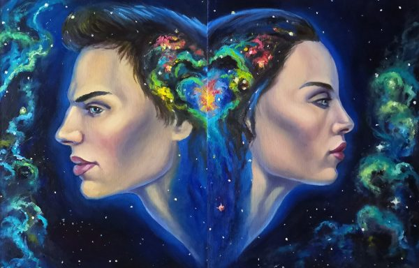 Diptych in the style of surrealism «Your choice»
