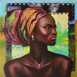 Oil painting on canvas Gold of Africa №3