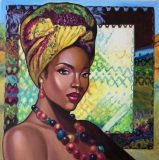 Oil painting on canvas «Gold of Africa № 4»