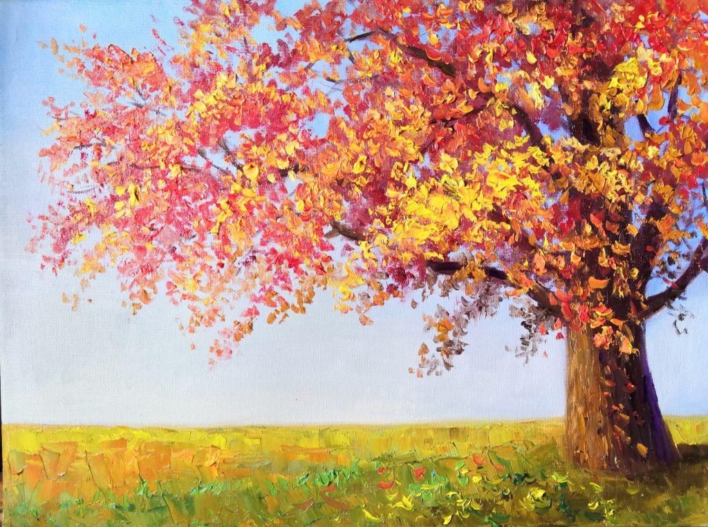 Autumn bright tree