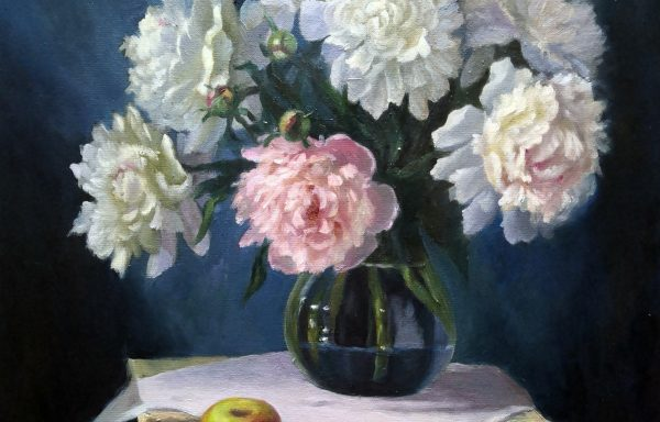 Peonies and apple.