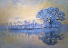 Winter mood. Crystal tree. Winter landscape.